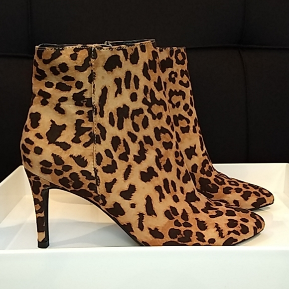 Express Leopard Print Ankle Booties